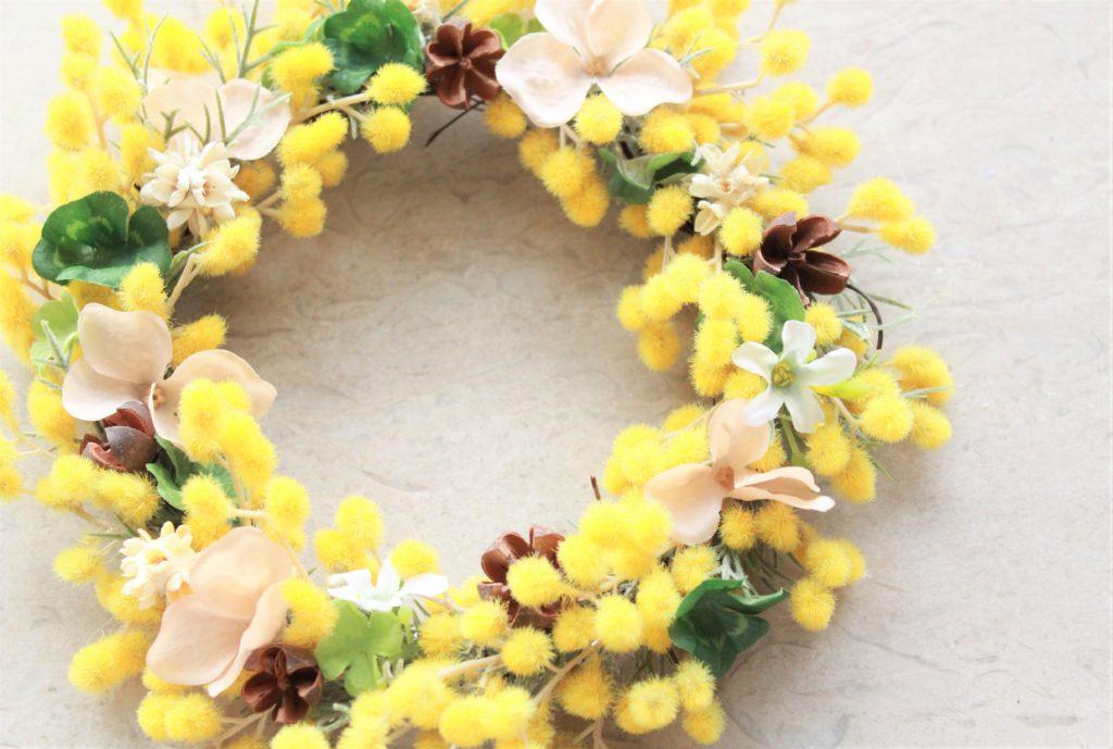 mimosa-wreath