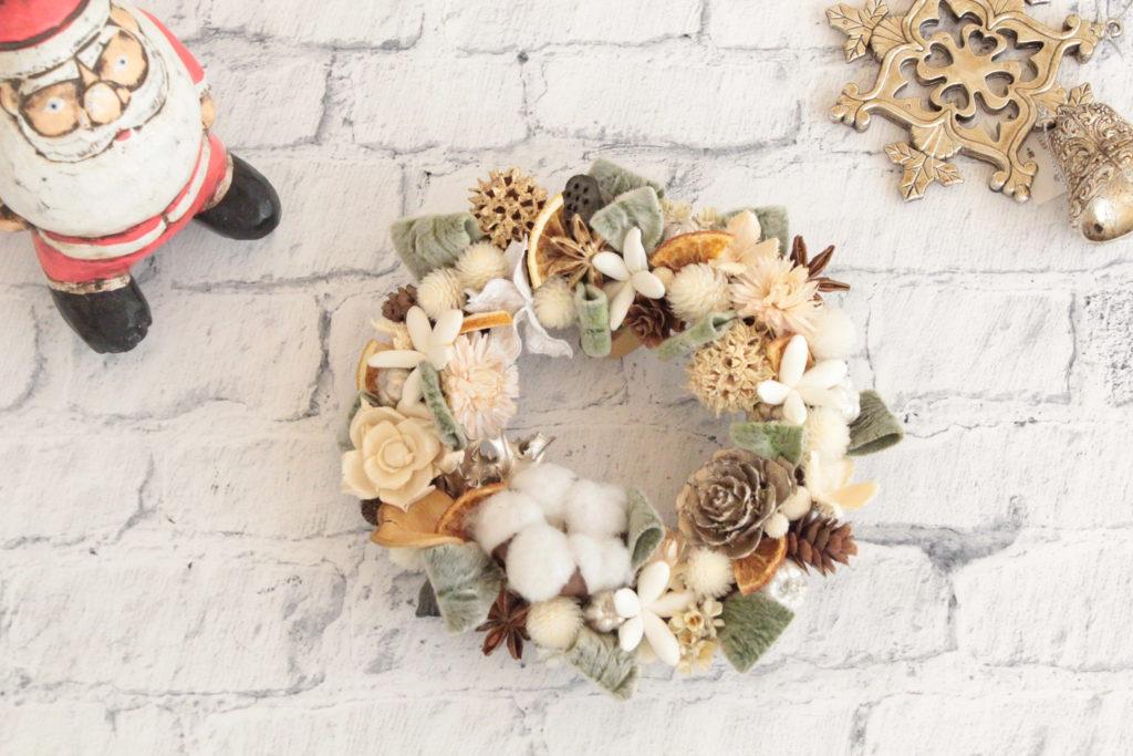 cottonball-wreath