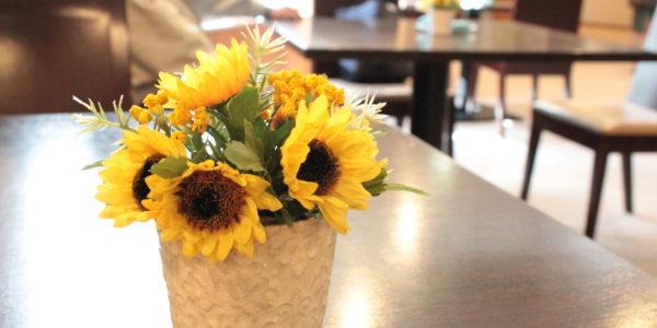 北海道の夏を造花で装飾